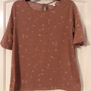 Lauren Conrad Short Sleeve Top